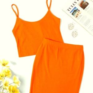 SHEIN ribbed two piece set